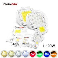 High Power LED Chip 1W 3W 5W 10W 20W 30W 50W 100W Warm Cold White Red Green Blue Yellow SMD Light Bead 1 3 5 10 20 50 100 W Watt