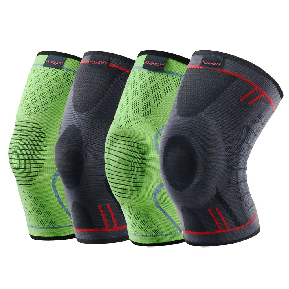 Kuangmi 1 предмет Сжатия Колена Рукав Баскетбол наколенники Поддержка Brace Спорт Волейбол коленной чашечки эластичный Спорт протектор