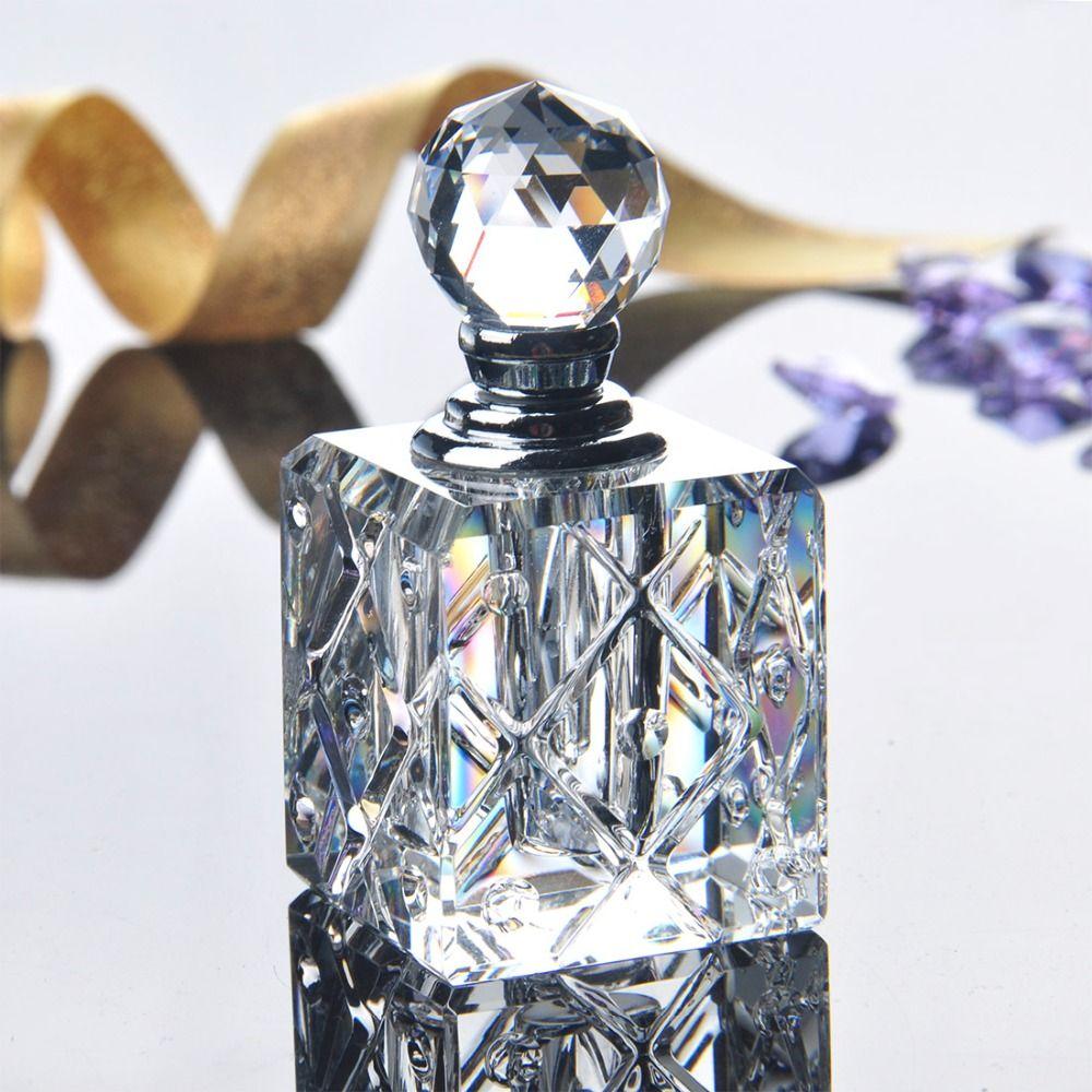 H & D 3 ml Clair Unqiue Cristal Verre Cristal Femmes Bouteille De Parfum Vide Rechargeable Container Voyage Parfum Cosmétique Échantillon bouteille