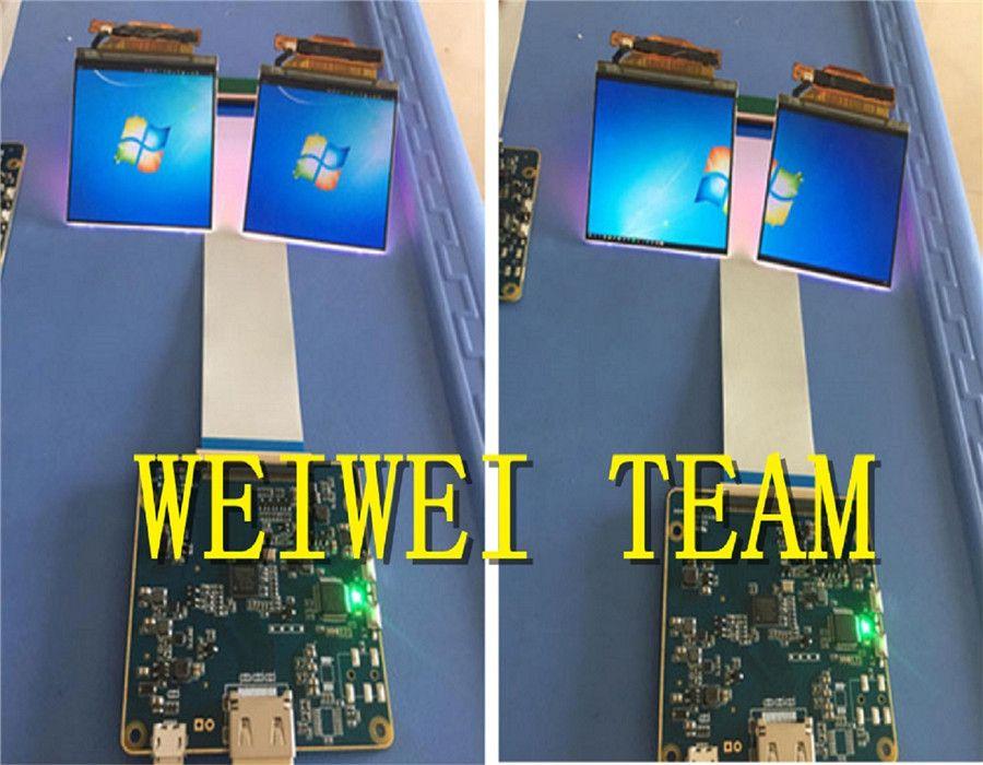2,9 zoll 1440*1440 2 Karat dual LCD display mit hdmi MIPI treiberplatine für 3D VR headset