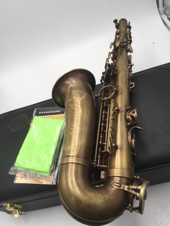 Custom Selmer MARK VI Alto Saxophone E Flat Antique Copper Simulation with Case Accessories Alto Sax Brass Instruments