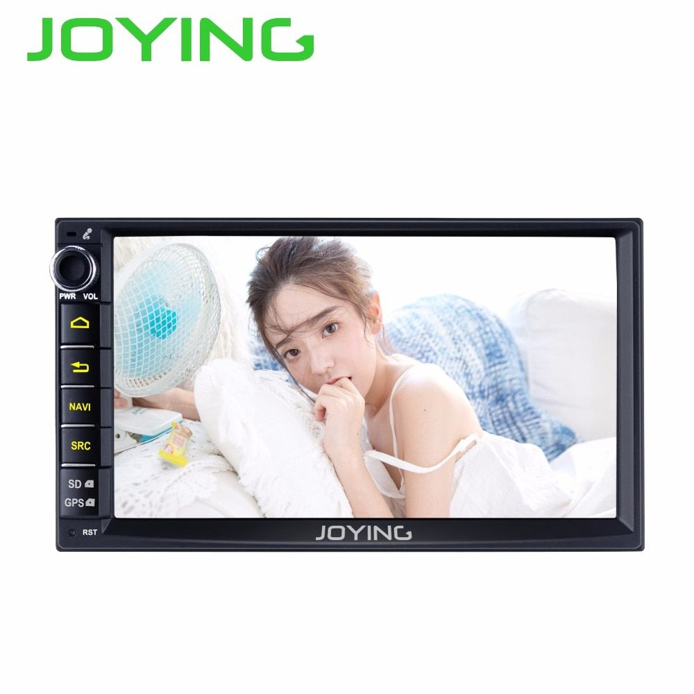 Joying 7 Double 2 Din Android 6.0 Media DVD Player Universal Car Radio Stereo Quad Core GPS Navigator Head <font><b>Unit</b></font> Steering Wheel