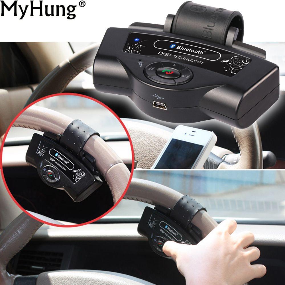 Volant Portable mains libres Auto récepteur Bluetooth Kits de voiture mains libres pour téléphone Portable haut-parleur Bluetooth