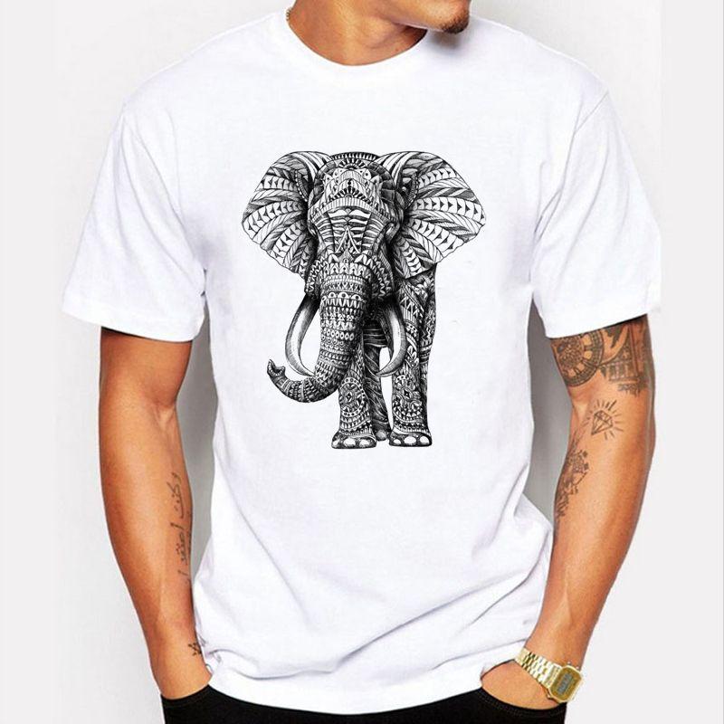 New 2017 Fashion Elephant Prints T Shirt Men Funny Animal Design Wrath orangutans Tee Shirts For Male Summer Cool Mens T-shirts