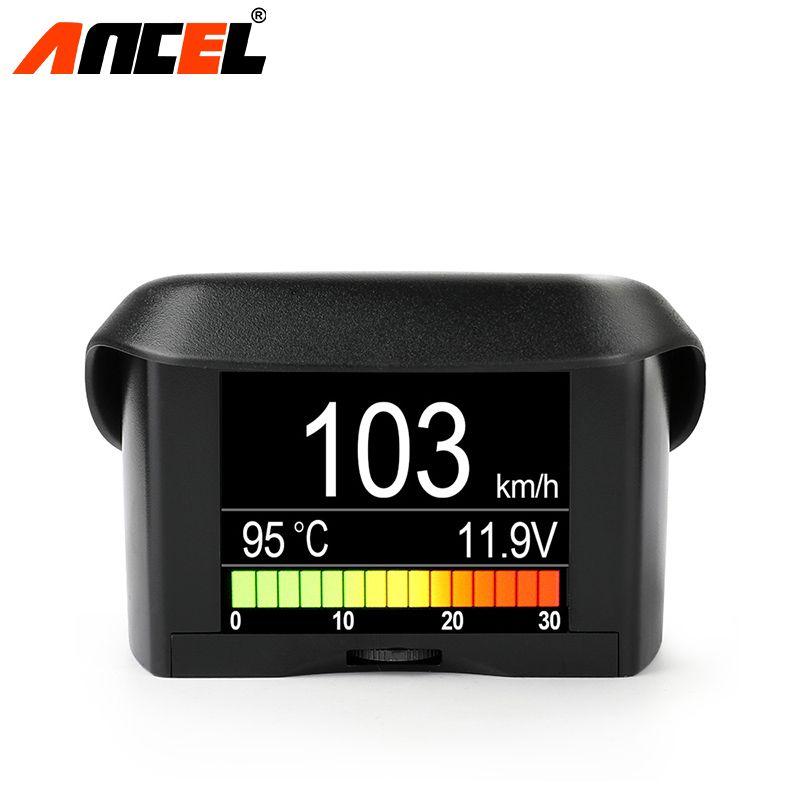 ANCEL A202 Smart OBDII Gauge Car Speed Meter Water Coolant Temperature Fuel Consumption Voltage Display OBD2 automotive Scanner