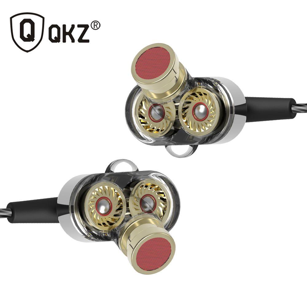 QKZ KD2 In Ear Hifi Earphone 3.5mm Jack Stereo <font><b>Headset</b></font> Mobile Fone de ouvido auriculares audifonos earphones gaming <font><b>headset</b></font>