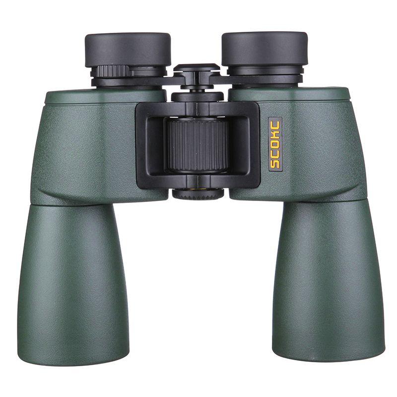 SCOKC Wide Angle Powerful hd 10x50 binoculars for stargazing bak4 FMC power zoom long range telescope wide angle hunting