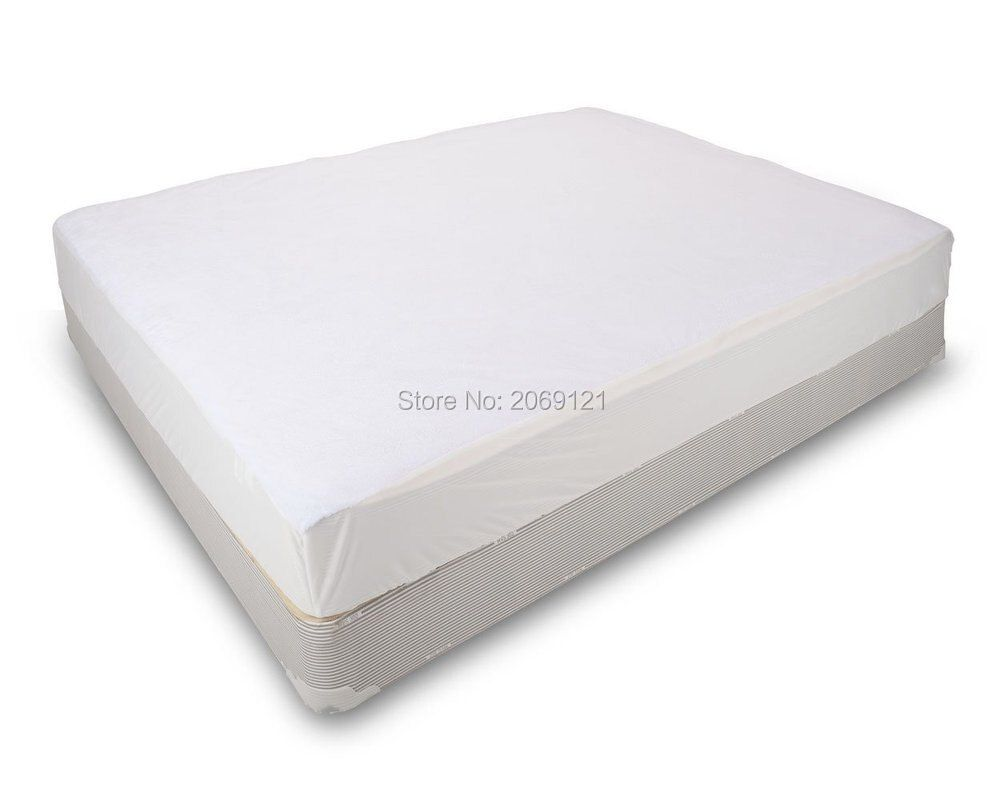 Classic 100% Polyester Waterproof Mattress Protects Against Dust Mites Allergens And Bacteria Fitted Sheet Mattress Cover