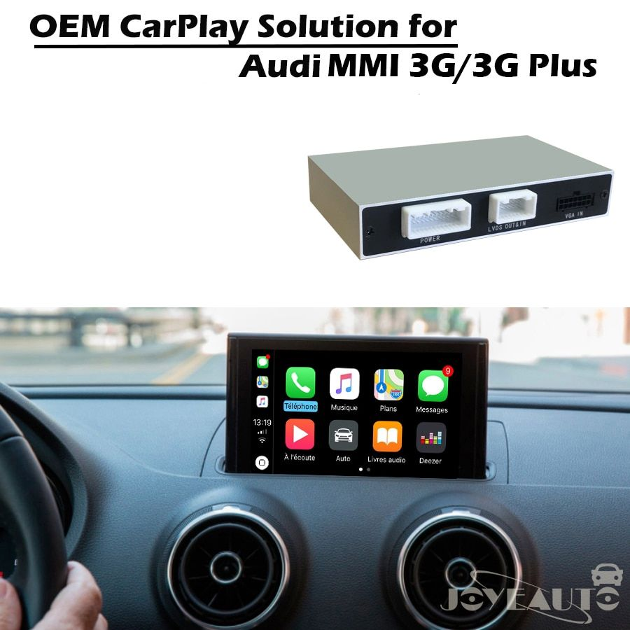 JoyeAuto Auto Adapter Multimedia Apple Carplay Retrofit A3 A4 A5 A6 A8 Q3 Q5 Q7 Original Bildschirm mit Reverse kamera für Audi MMI