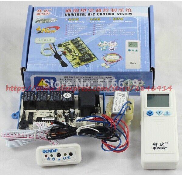 QD-U03A + Colgando de aire acondicionado general de ordenador de a bordo/doble sonda/calefacción/aire acondicionado placa de control
