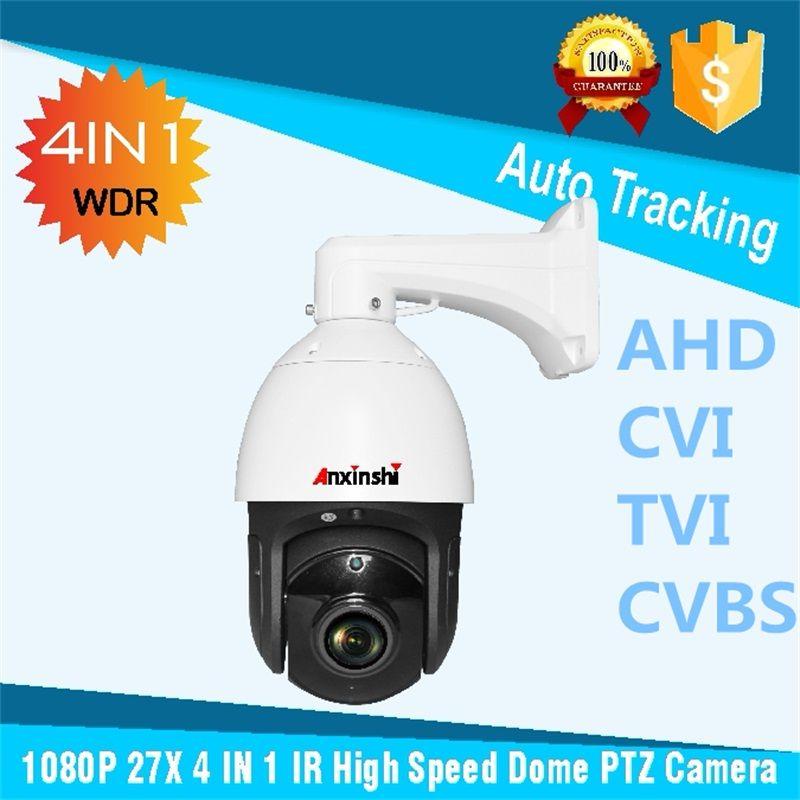 Freies verschiffen Auto tracking PTZ CVI IR 150 mt Sony 323 CVBS CVI Analog HD 2.0MP CVI High Speed Dome kamera mit BNCvia RS485 PTZ