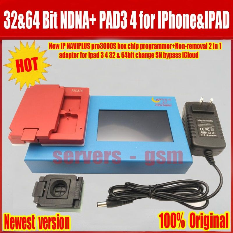 New IP BOX Pro 3000S NAND Flash Non-Removal Module Adapter For iPad 2 3 4 5 6 iPad Air 1 2 Naviplus Pro3000s NAND Repair Tool