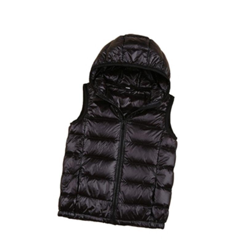 2018 autumn and winter new children's down jacket, vest, thickened children's wear, Hooded Vest, boy white jacket