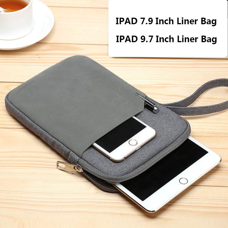 Étui de protection à manches étanches étui pour IPAD Mini Xiaomi 7.9 pouces sac de doublure en coton à glissière pour Apple IPAD 9.7 pouces sac à main