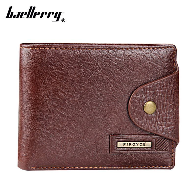 New 2017   Guaranteed Genuine Leather Brand Men Wallets Design Short Small Wallets Male Mens Purses Card Holder Carteras