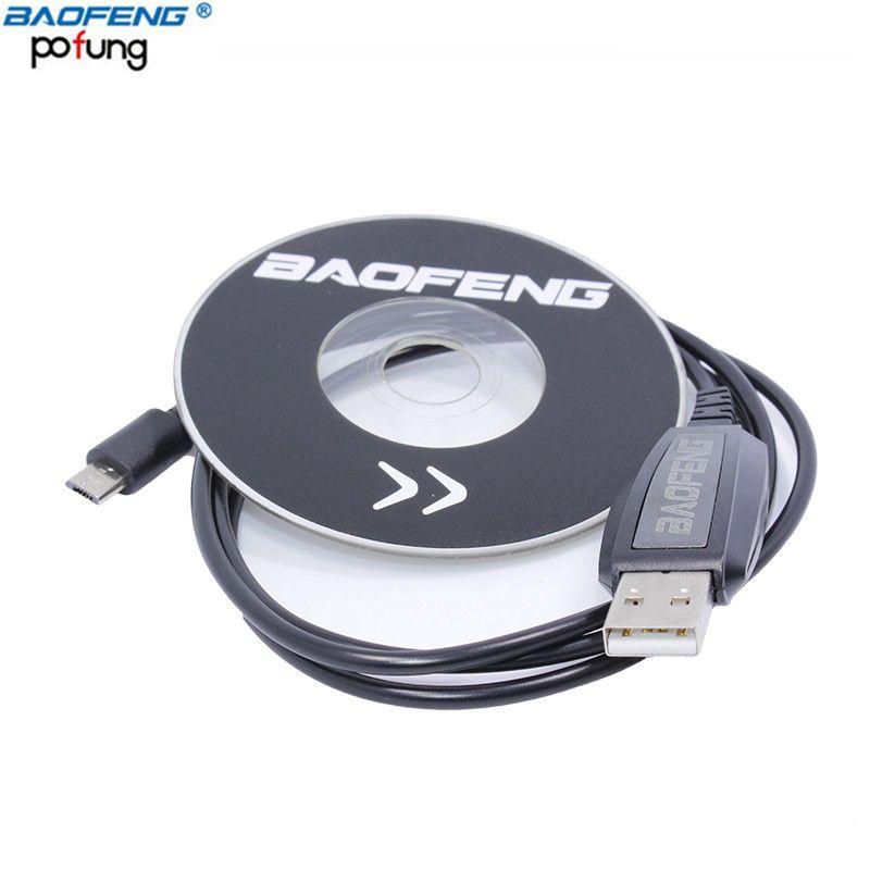 BAOFENG Accessoires Câble de Programmation USB Pour BAOFENG BF-T1 Mini Talkie Walkie BF-9100 Mobile Radio Avec CD Firmware Pièces