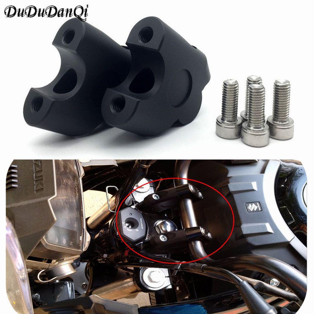 Motorcycle CNC aluminum alloy handle riser clamp installation cone 2/22mm for Suzuki DL650 V-strom DL1000 V-strom