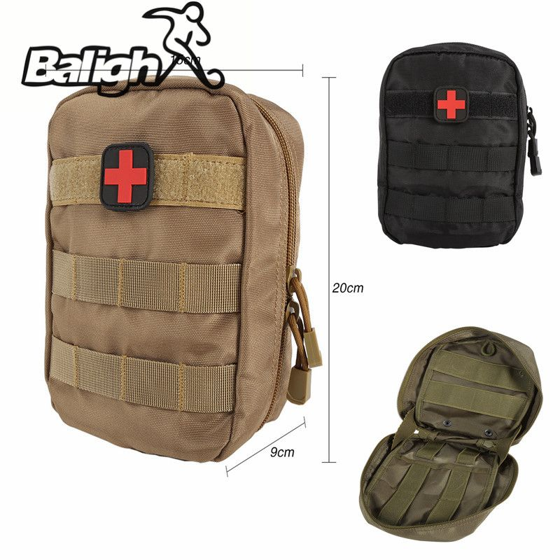 Balight Balight Outdoor First Aid Bag Only Molle Medical Cover Emergency Military Program Package Travel Hunting Utility Pouch