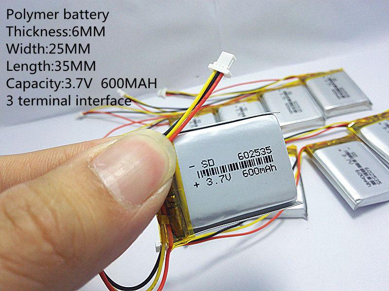 2019 nouveau batteries batterie lithium-polymère 3.7 V, 600 602535 peut être personnalisé en gros CE FCC ROHS FS qualité certification
