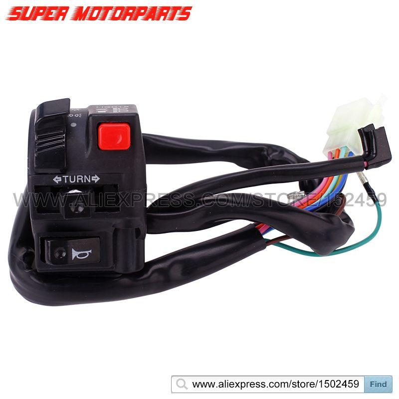 Motorcycle Scooter Handle Switch Turn Signal Control Horn Left Switch For HONDA CBR250 CBR400 VFR400 MC19 MC22 MC23 NC29 MC30