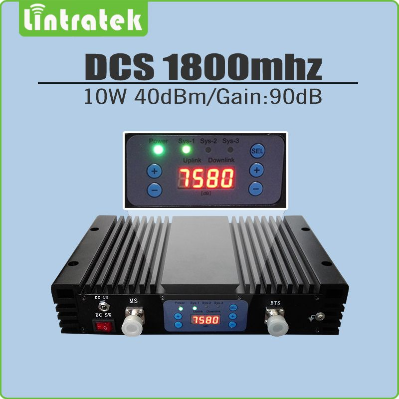 10W 40dBm/Gain 90dB DCS 1800mhz Cellphone Signal Booster DCS LTE 1800(Band 3) Mobile Signal Repeater with AGC/MGC/LCD display