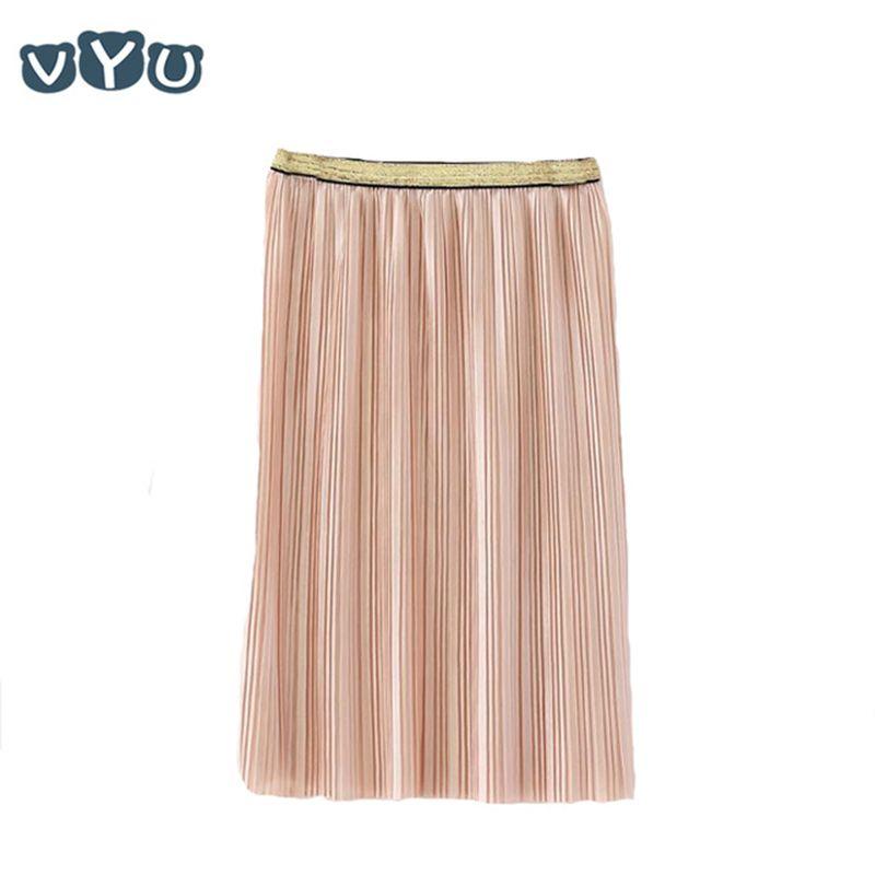 2018 velours plissé jupe plissée lisse longue jupe été hiver décontracté lâche enfants taille haute élastique enfants filles jupes
