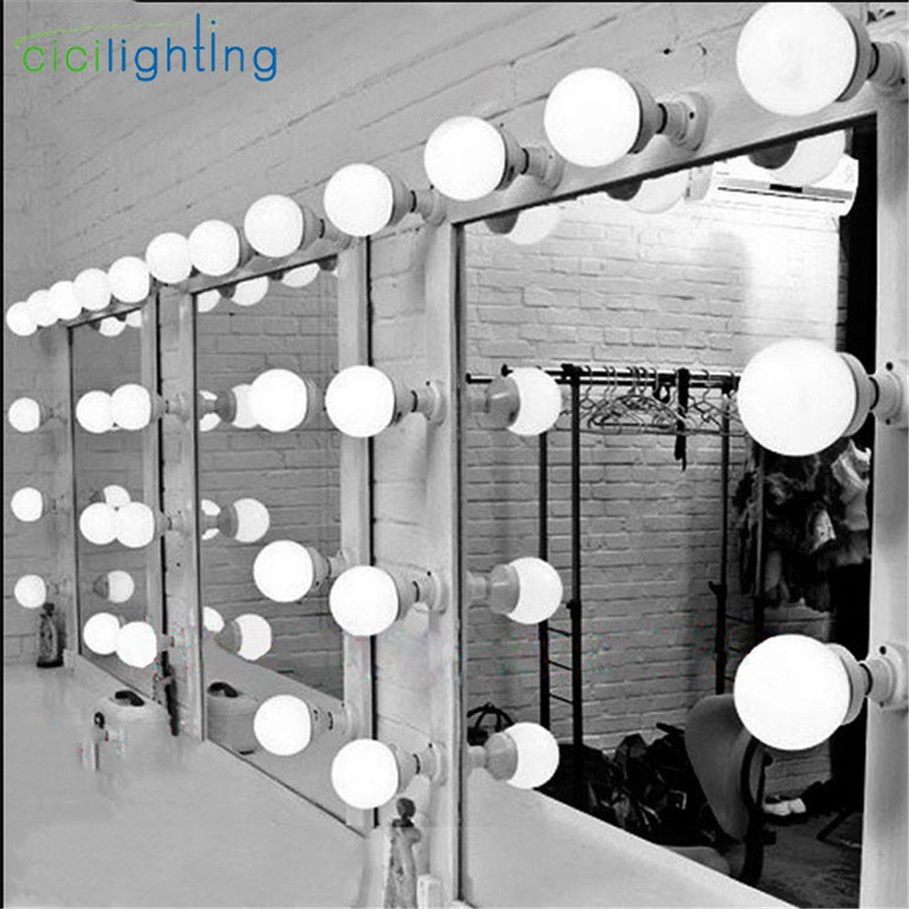 5/10/15/20pcs Modern dressing room mirror light wall cosmetic mirror lamp E27 E26 LED bulbs plug in lighting makeup wall lamps