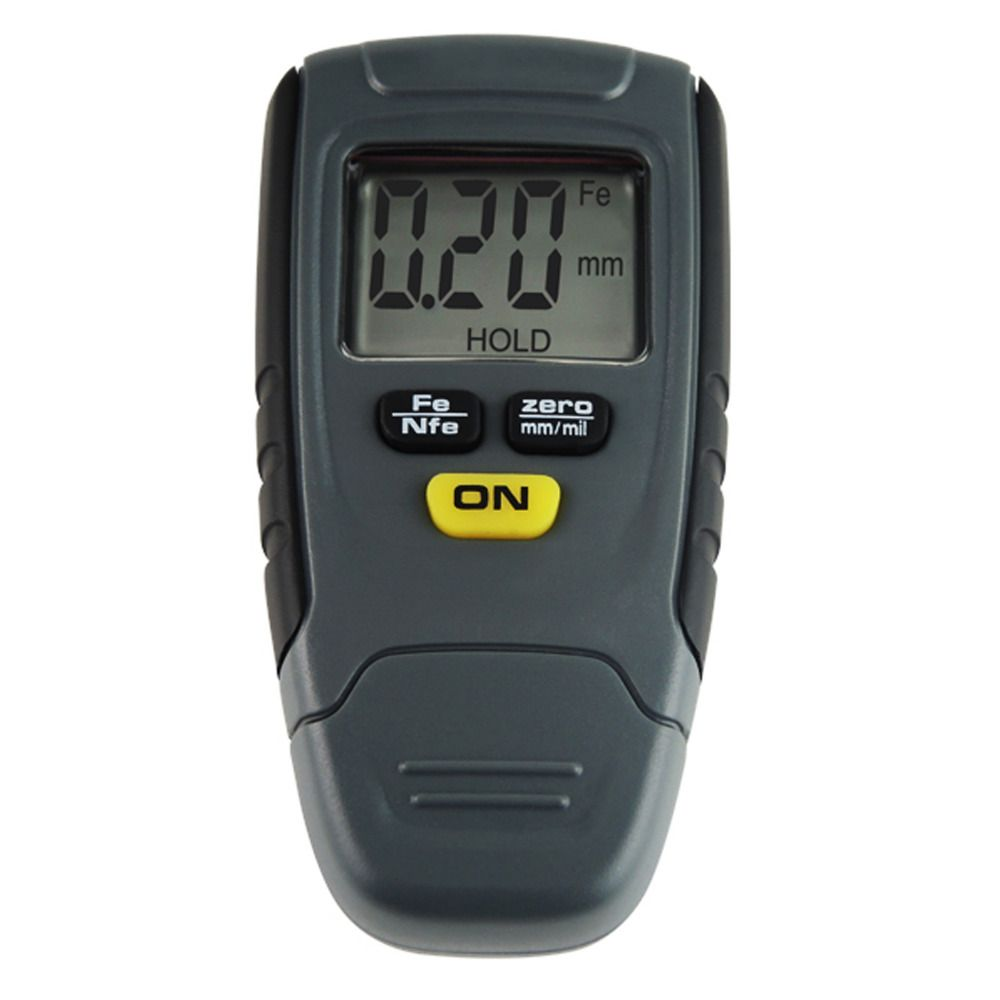 Digital Paint Coating Thickness Tester 1.25mm Iron Aluminum Base Metal Painting Coat Gauge Thick Meter