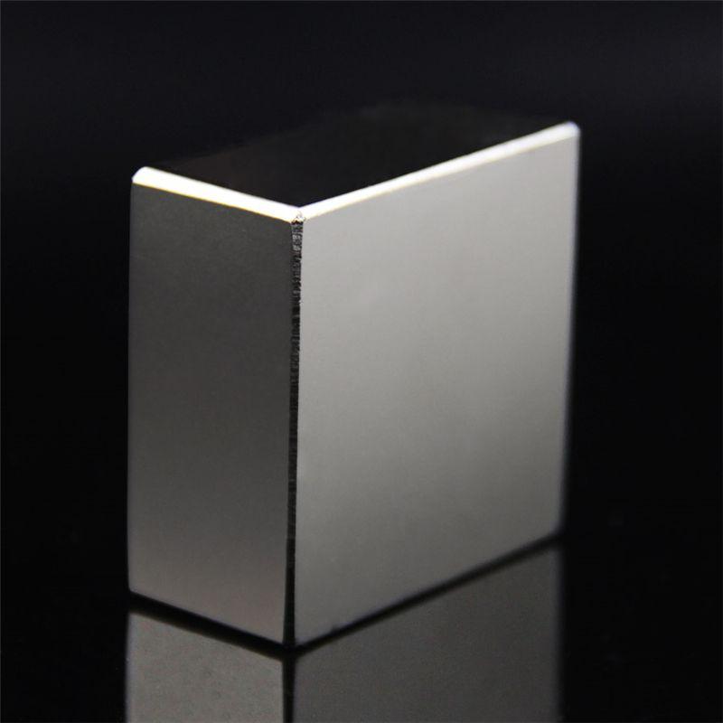 Super puissant bloc de terre Rare NdFeB aimant néodyme N52 aimants F40x40x20mm