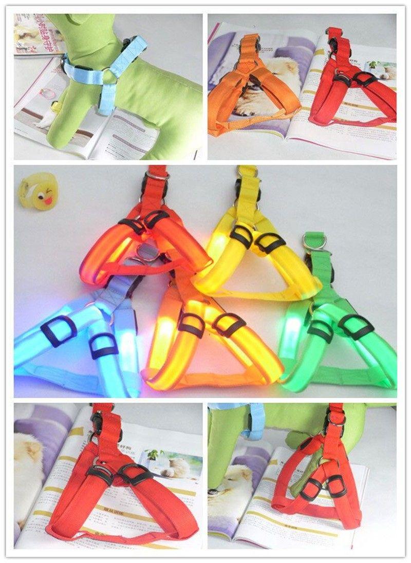 FE01 USB rechargerable chien harnais lumière LED pet ceinture lumineuse chien harnais pour moyen grand chiens livraison gratuite