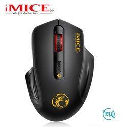 IMice Бесшумная Беспроводная usb-мышь 2000 dpi USB 3,0 приемник оптическая компьютерная мышь 2,4 ГГц эргономичная мышь для ноутбука ПК мышь