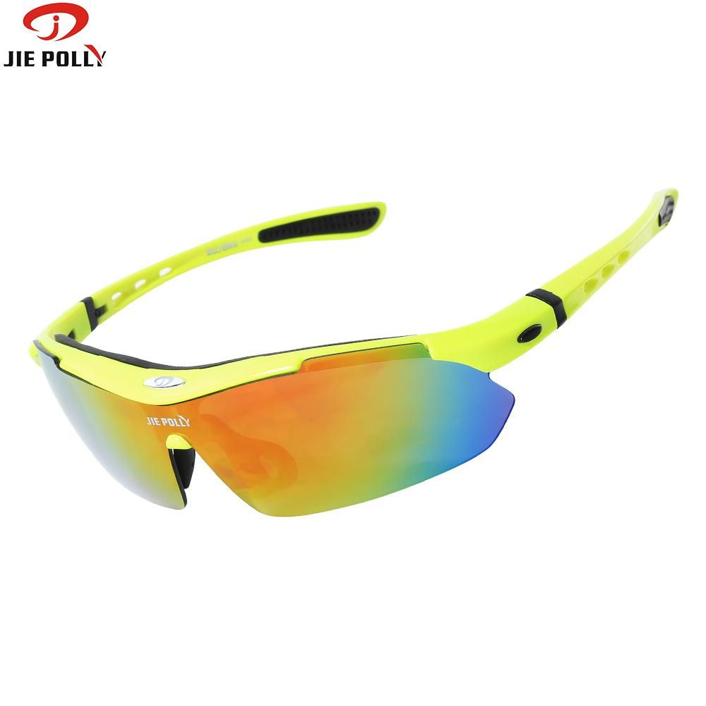 Jiepolly Polarized Cycling Sunglasses Glasses Fishing Running Eyewear UV400 5 lens with Myopia Frame Goggles cilismo gafas