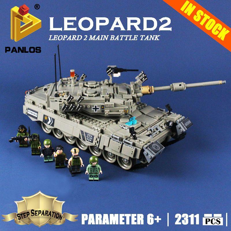 Compatible With lego Machine German Leopard 2 Main Battle Tank Model Building Toys hobbies Blocks Large Creative Education Brick