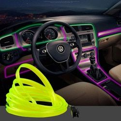 1M/2M/3M/5M Waterproof LED Strip Light Neon Light Glow EL Wire Rope Tube Cable USB Car Dc12V Cigarette For Car Decoration Party