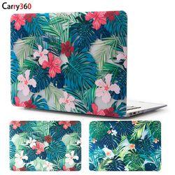 Carry360 hermosa Floral hojas Laptop para Apple Macbook Air Pro Retina 11 12 13 15 para el nuevo Mac book pro 13 con barra táctil