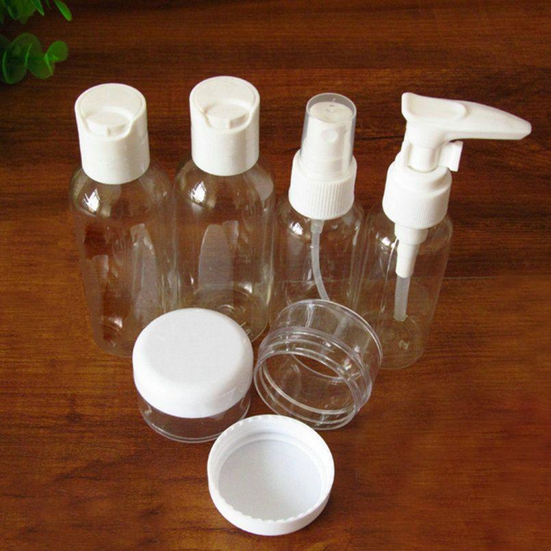 6 шт./компл. мини Пластик Прозрачный Малый Пустые бутылки спрей случае лосьон контейнер путешествия составляют Уход за кожей многоразового ...