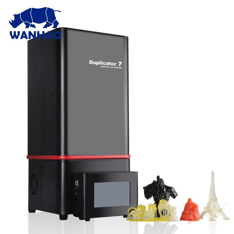 2018 New D7 V1.5 Duplicator 7 LCD SLA DLP 3d printer , WANHAO factory dental dentist jewelry Resin 3D Printer + D7 USB Box