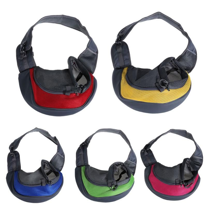 Pet Dog Carrier Cat Carrying Small Animal Sling <font><b>Front</b></font> Carrier Bag Mesh Soft Travel Bags for Small Dogs Pets Slings Backpack