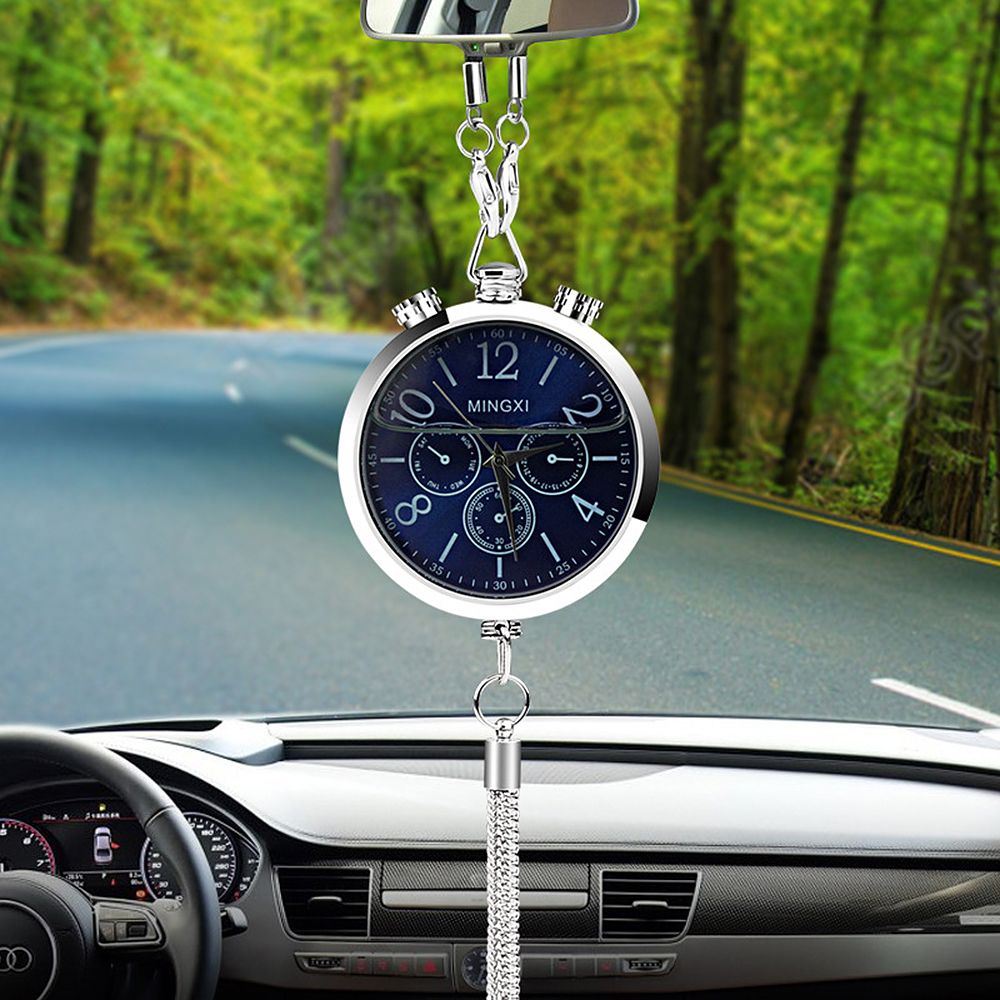 Car-styling Auto Rearview Mirror Car Decoration Interior Accessories Car Clock Perfume Refill Storage Ornament Hanging Pendant