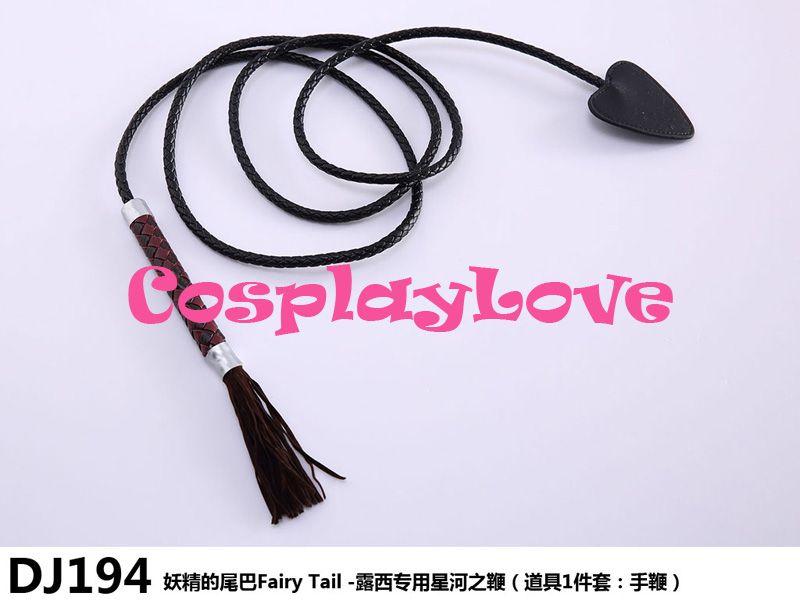Haute qualité Stock japonais Anime queue de fée Lucy cœur filia cuir étoile fouet Cosplay accessoire Cosplay armes