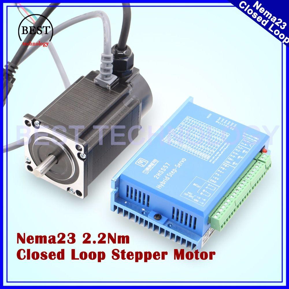 Nema23 Closed Loop Stepper Motor 2.0N.m 4 wires 285Oz-in D=8mm Nema 23 2.2Nm Close Loop Stepping Motor Servo Stepper Motor