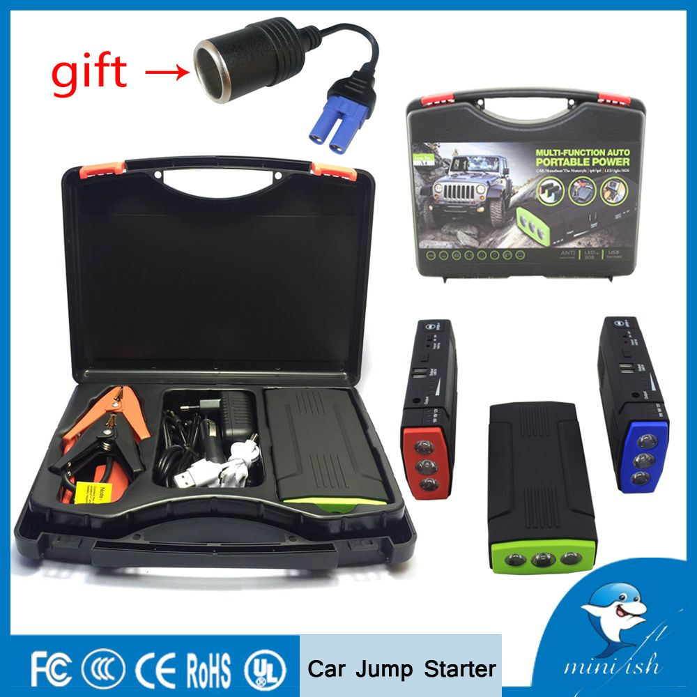 MiniFish Best Selling Products 68000mAh Battery <font><b>Charger</b></font> Portable Mini Car Jump Starter Booster Power Bank For A 12V Car