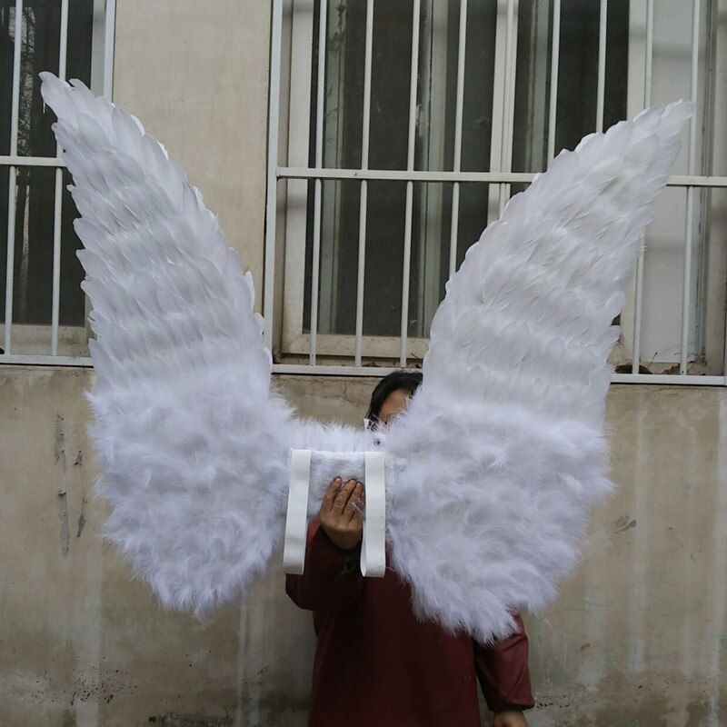 EMS free shipping high quality white red angel wings large props for Display wedding shooting home decorations pure handmade