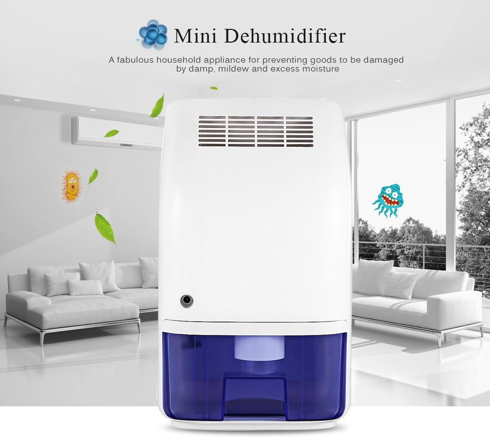 Invitop T8 Electric Mini Home Dehumidifier Air Dryer Moisture Absorber with 700ML Water Tank for Home Kitchen Office Car XJ