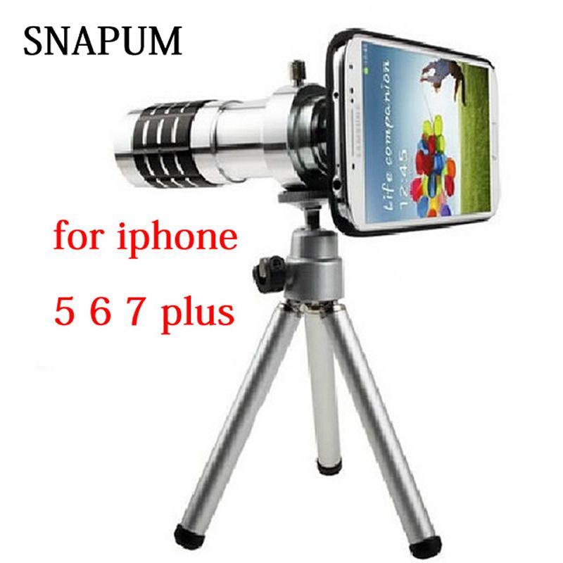 SNAPUM handy Handy 12x Zoom optische Teleskop-teleobjektiv Für Apple iPhone 5 5 s SE 6 6 s 7 8 plus samsung S7 S8