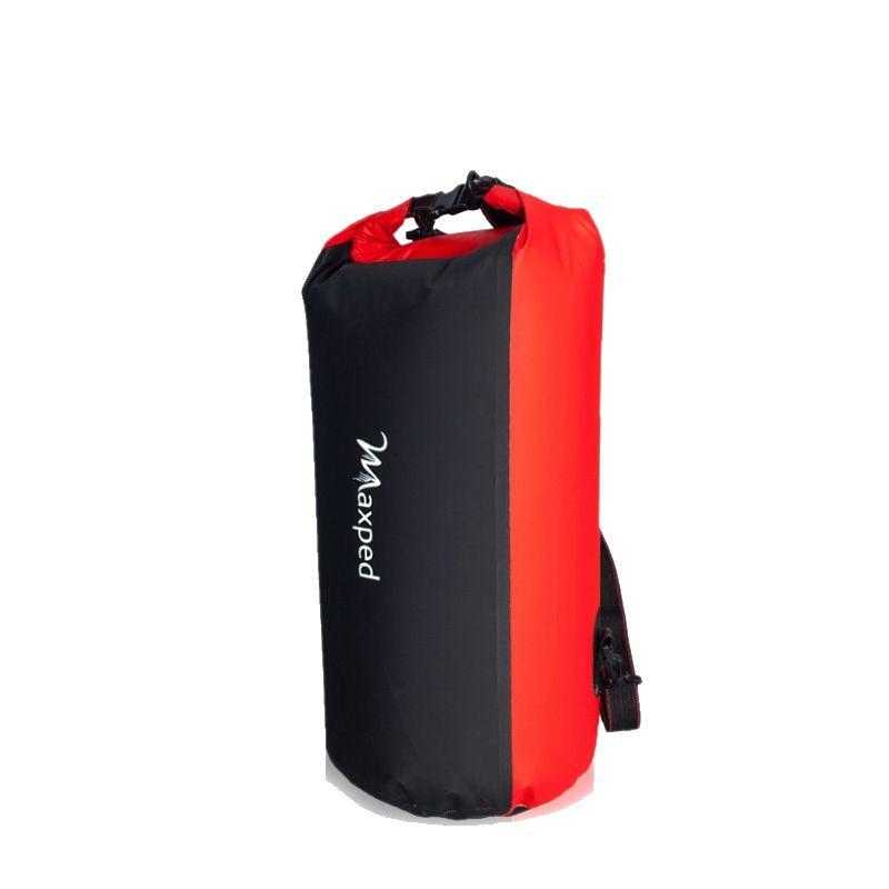 Maxped Waterproof Dry Bag Backpack Canoe Kayak PVC Drifting Bag Rafting Floating Storage Swimming Bags Folding Travel Kits Red