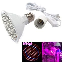 200 led Seedling Plant Grow Light Lamp Bulbs With Ac Power Cable Adapter vegetable Flower Growth Growing For Indoor Greenhouse