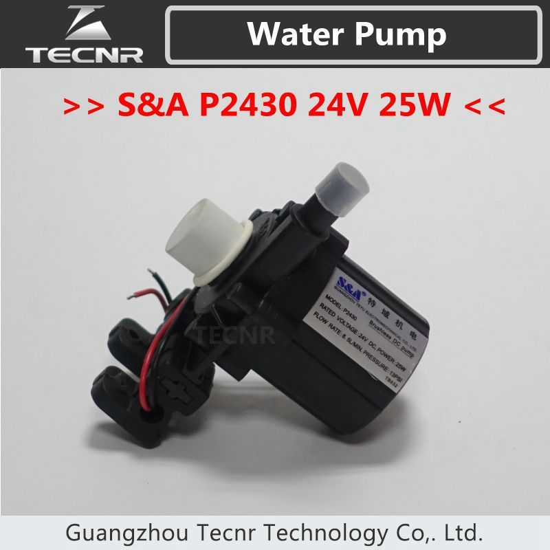 S&A Brushless DC Pump P2430 24V voltage 25W watt 8.5L/min 13PSI for industrial Chiller CW3000