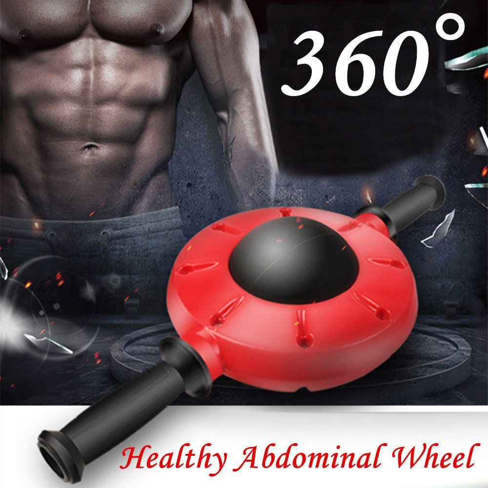 360 Degrees All-Dimensional Abdominal Wheel No Noise Ab Roller Muscle Trainer Fitness Equipment Non-Slip Workout Body Massager