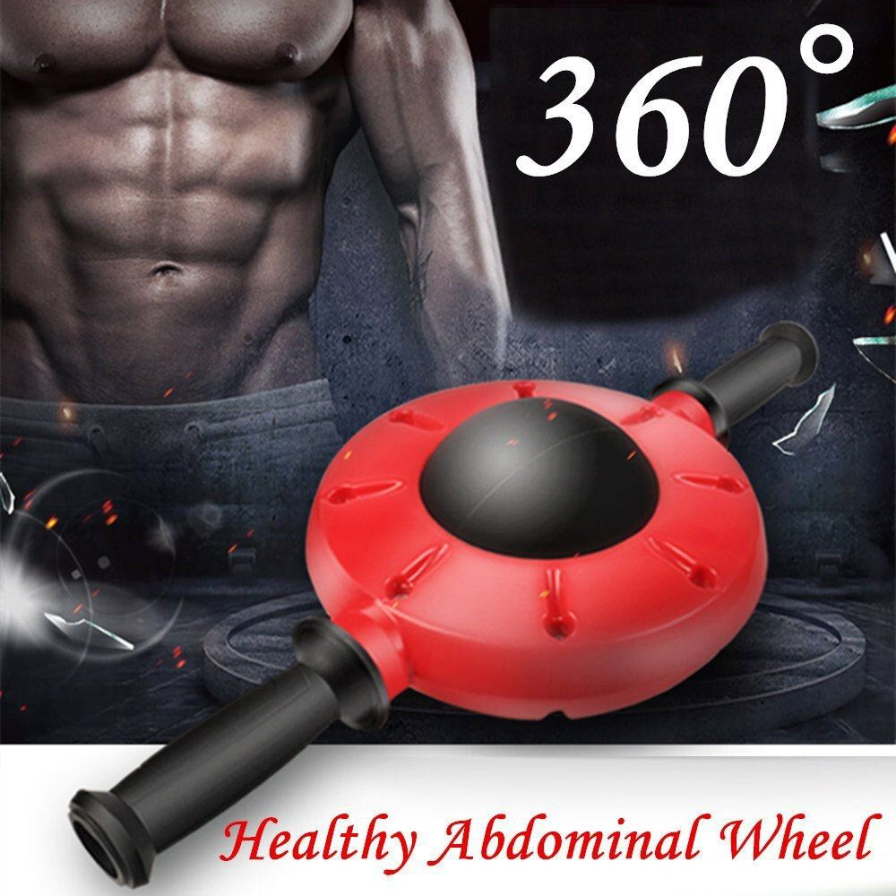 360 Degrees All-Dimensional Abdominal Wheel No <font><b>Noise</b></font> Ab Roller Muscle Trainer Fitness Equipment Non-Slip Workout Body Massager